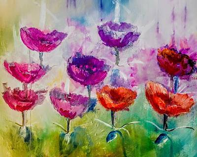 Digital Art - Dance Of Poppies Painting By Lisa Kaiser by Lisa Kaiser