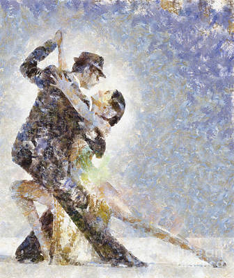 Dance Of Romance Art Print by Shirley Stalter