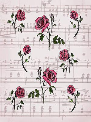 Mixed Media - Dance Of Roses by Masha Batkova