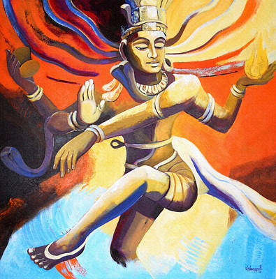 Painting - Dance Of Shiva by Vishwajyoti Mohrhoff