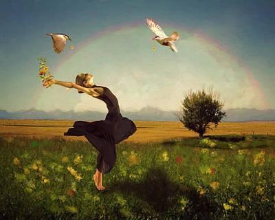 Digital Art -  Dance Of Spring by Terry Fleckney