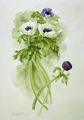 Painting - Dance Of The Anemone Bouquet by Kathryn Donatelli