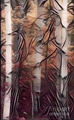 Yellowstone Digital Art - Dance Of The Aspen Trees by Scott D Van Osdol