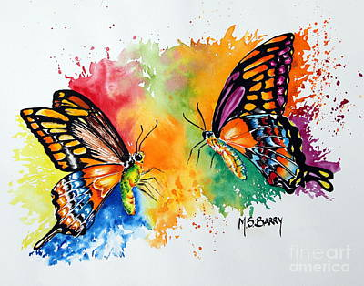 Painting - Dance Of The Butterflies by Maria Barry