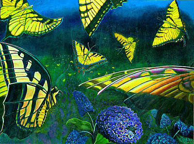 Painting - Dance Of The Butterflies by Peter Bonk