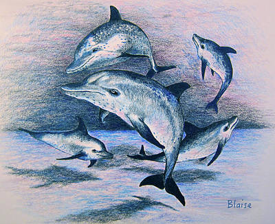 Drawing - Dance Of The Deep by Yvonne Blasy