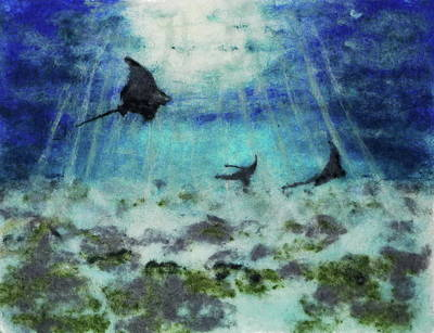 Painting - Dance Of The Eagle Rays by Susanne Weber