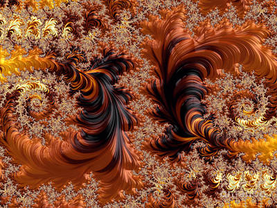 Digital Art - Dance Of The Falling Leaves by Elaine Teague