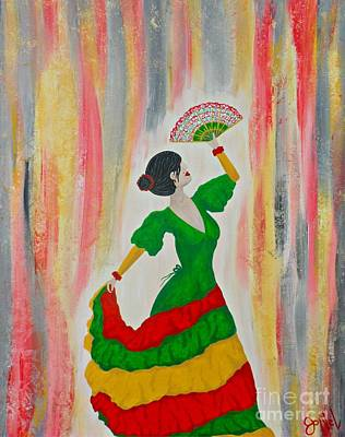 Painting - Dance Of The Flamenco by JoNeL Art