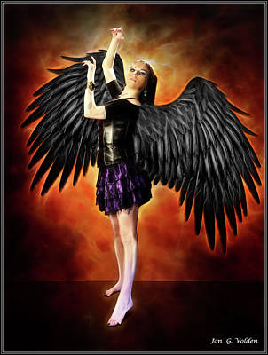 Photograph - Dance Of The Hawk Girl by Jon Volden