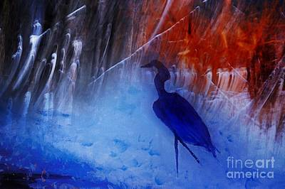 Mixed Media - Dance Of The Heron by Sandra Silva