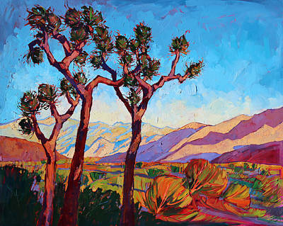 Dance Of The Joshuas Print by Erin Hanson