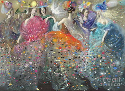 Partners Painting - Dance Of The Muses by Annael Anelia Pavlova