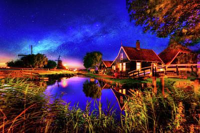 Zaanse Schans Photograph - Dance Of The Night by Midori Chan