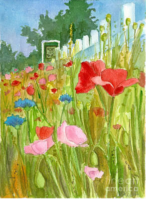Painting - Dance Of The Poppy Flowers by Cathie Richardson