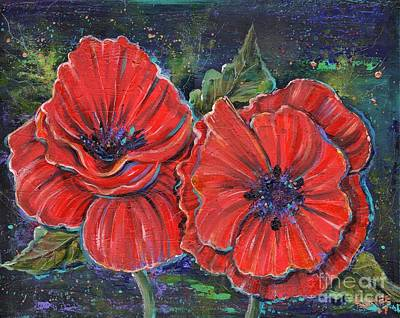 Painting - Dance Of The Poppy by Renee Lavoie