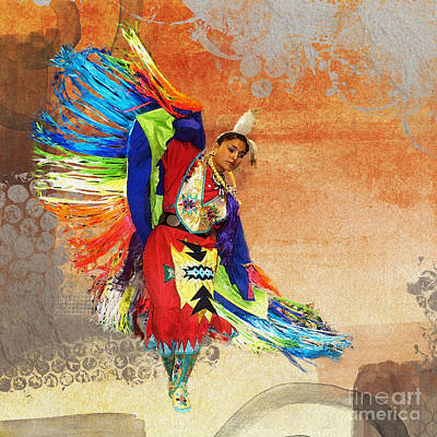 Digital Art - Dance Of The Rainbow Warrior Female 2016 by Kathryn Strick