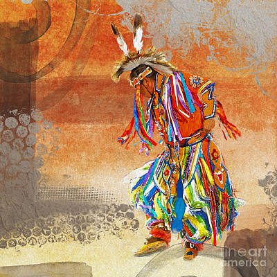 Digital Art - Dance Of The Rainbow Warrior Male 2016 by Kathryn Strick