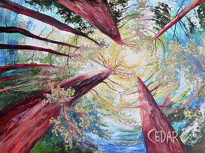 Painting - Dance of the Redwoods by Cedar Lee