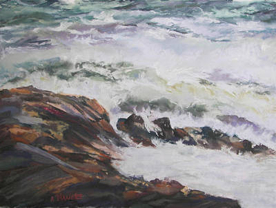 Dance Of The Rising Tide Art Print by Alicia Drakiotes