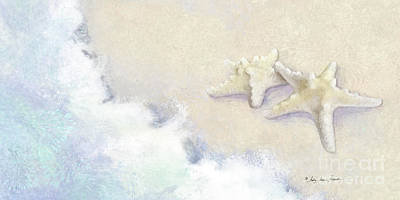 Painting - Dance Of The Sea - Knobby Starfish Impressionstic by Audrey Jeanne Roberts