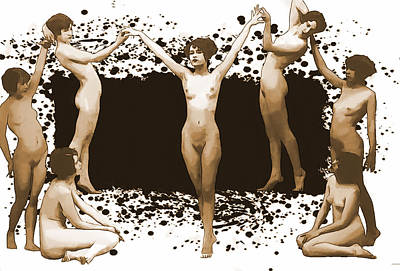 Digital Art - Dance Of The Seven Nudes by John Haldane