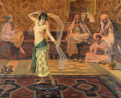 Dance Of The Seven Veils Print by Otto Pilny