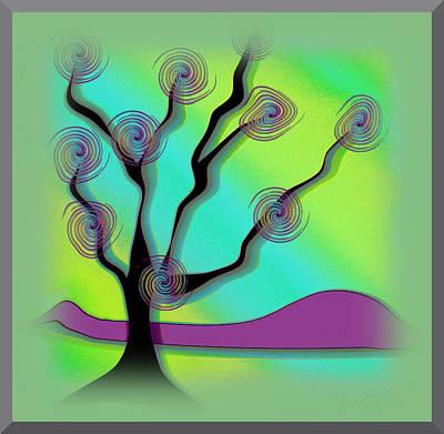 Digital Art - Dance Of The Tree by Iris Gelbart