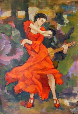 Dance Painting Carmen Art Print by Alfons Niex