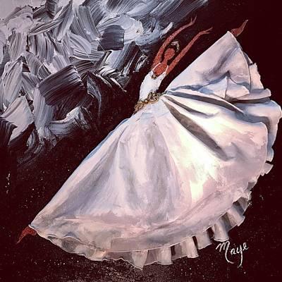 Dance Queen Art Print by Mireya Schoo