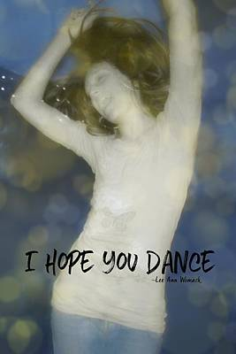 Dance Quote Art Print by JAMART Photography