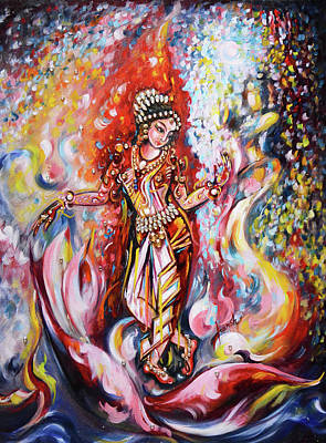 Painting - Dance - Shringar  by Harsh Malik