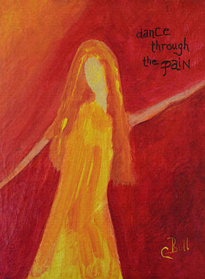 Original featuring the painting Dance Through The Pain by Claire Bull