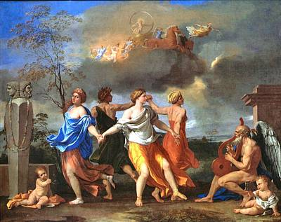 Painting - Dance To The Music Of Time  by Nicolas Poussin