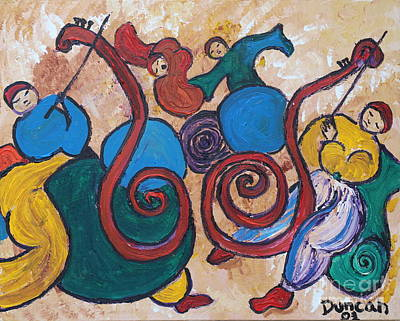 Painting - Dance To The Music by Stefan Duncan