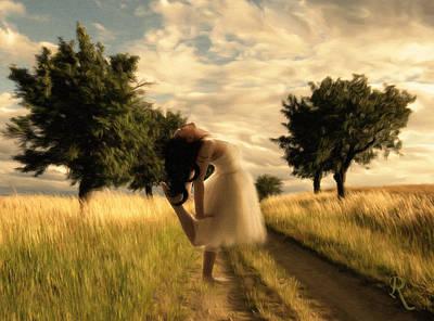 Impressionistic Landscape Mixed Media - Dance Until Dawn by Georgiana Romanovna