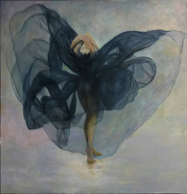Painting - Dance With A Black Shawl by Sylva Zalmanson