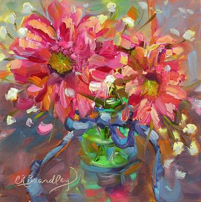 Gerber Daisy Painting - Dance With Daisies by Chris Brandley