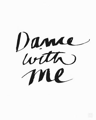 Calligraphy Painting - Dance With Me- Art By Linda Woods by Linda Woods