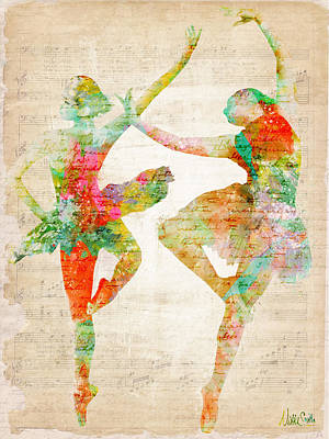 Digital Watercolor Digital Art - Dance With Me by Nikki Smith