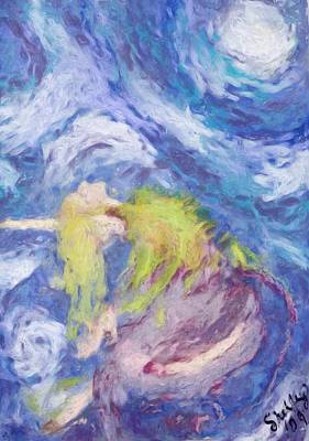 Painting - Dance With The Moon by Shelley Bain