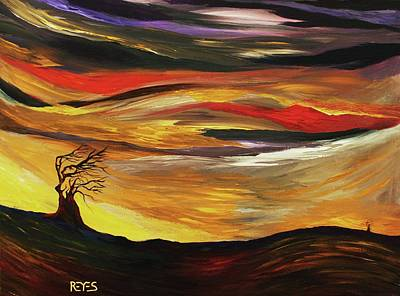 Painting - Dance In The Wind by Angel Reyes