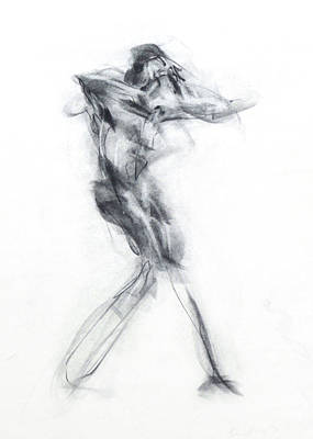 Abstract Movement Drawing - Dancer - Intensity by Christopher Williams