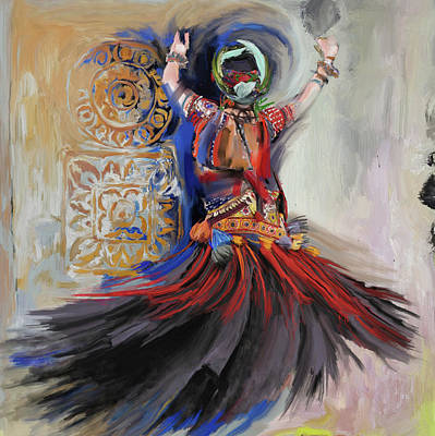 Afremov Painting - Dancer 265 1 by Mawra Tahreem
