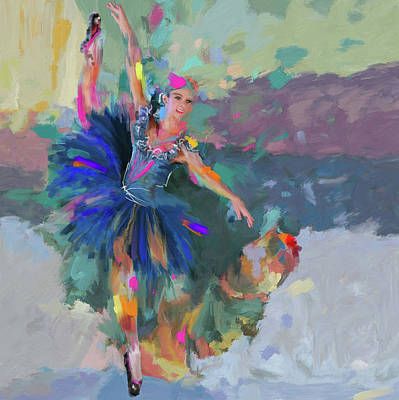 Afremov Painting - Dancer 281 1 by Mawra Tahreem