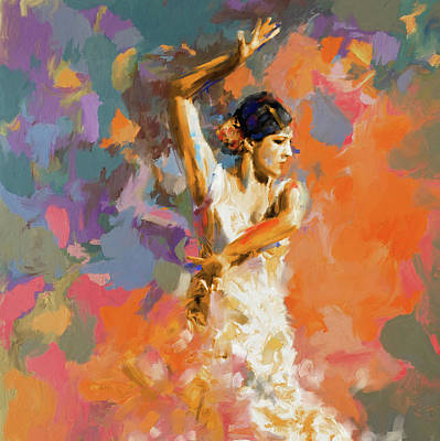 Afremov Painting - Dancer 283 1 by Mawra Tahreem
