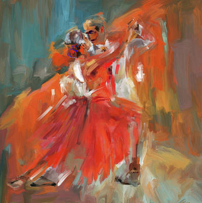 Dancer 284 1 Art Print by Mawra Tahreem