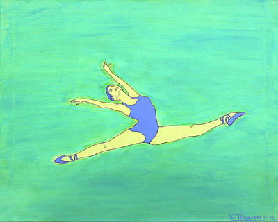 Painting - Soaring Dancer By Ken Tesoriere by Lyric Artists