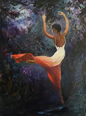 Painting - Dancer A by Sylva Zalmanson
