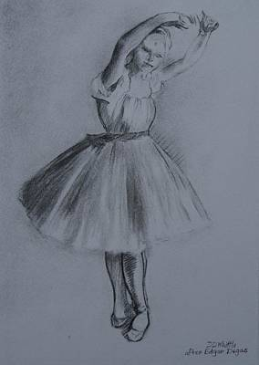 Drawing - Petite Danseuse After Degas by Dee Dee Whittle